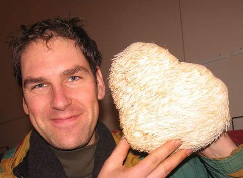 Todd Spanier with Hericium
